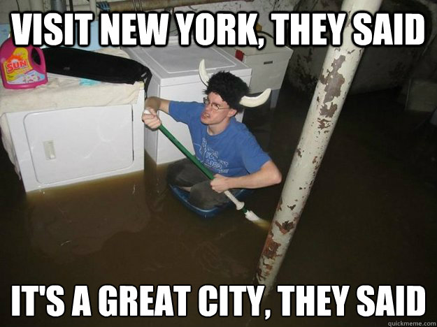 visit new york, they said it's a great city, they said  - visit new york, they said it's a great city, they said   Laundry viking