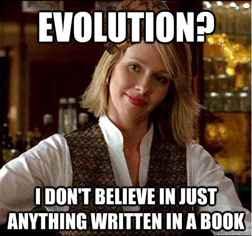 ... just anything written in a book - Scumbag Christian Girl - quickmeme: quickmeme.com/meme/3thrxo