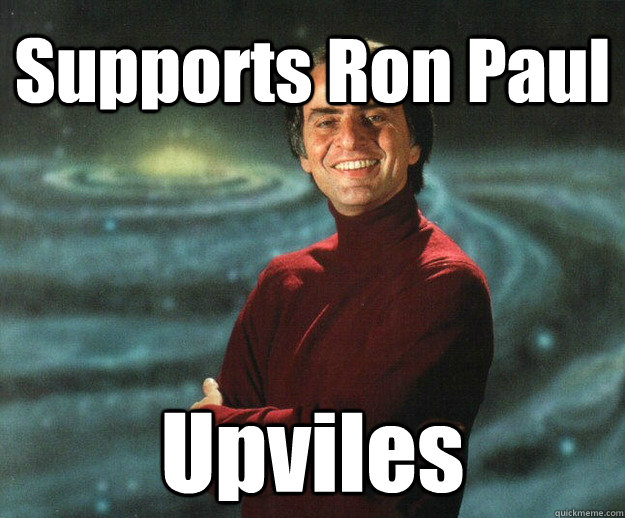 Supports Ron Paul Upviles