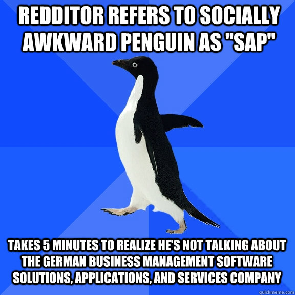 Redditor refers to socially awkward penguin as