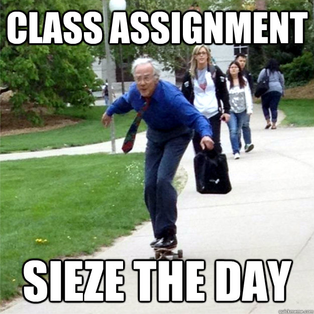 Class Assignment Sieze the day - Class Assignment Sieze the day  Skating Prof
