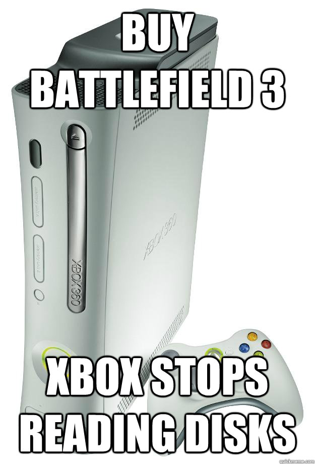 Buy Battlefield 3 Xbox stops reading Disks