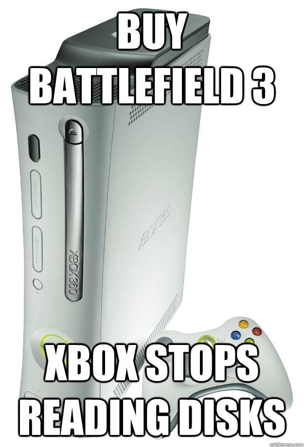 Buy Battlefield 3 Xbox stops reading Disks