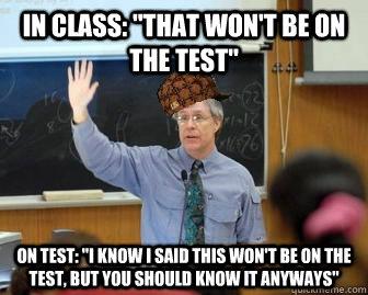 In class: