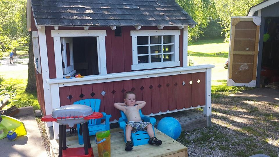 Built my nephew a playhouse. He's gonna be a great old man someday. -   Misc