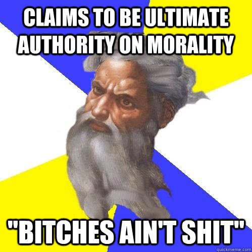 Claims to be ultimate authority on morality