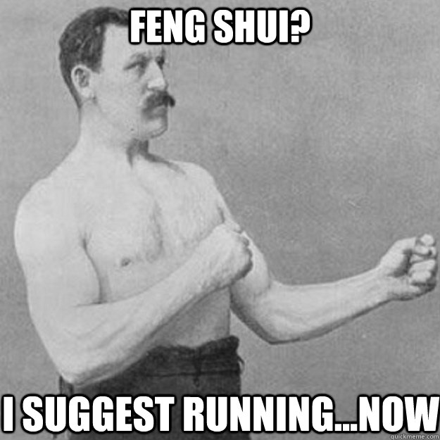 Feng Shui? I suggest running...now - Feng Shui? I suggest running...now  overly manly man