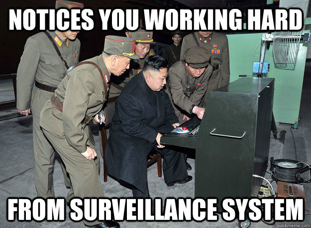 Notices you working hard From surveillance system - Notices you working hard From surveillance system  kim jong un