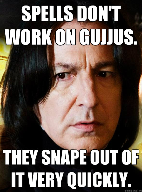 Spells don't work on gujjus. They snape out of it very quickly.