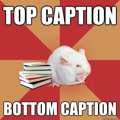 Top caption Bottom caption  Science Major Mouse