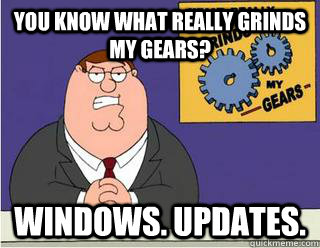 You Know What really grinds my gears? windows. updates. - You Know What really grinds my gears? windows. updates.  Grinds my gears