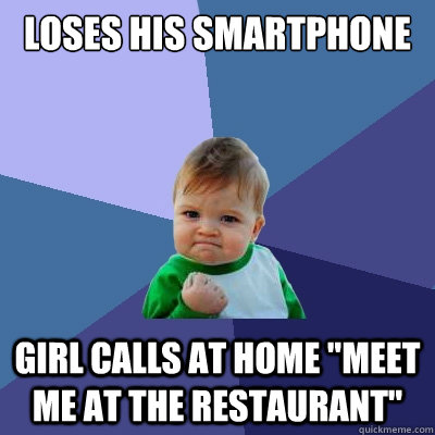 loses his smartphone girl calls at home