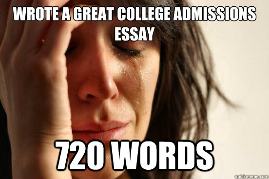 Best college admissions essay in the world