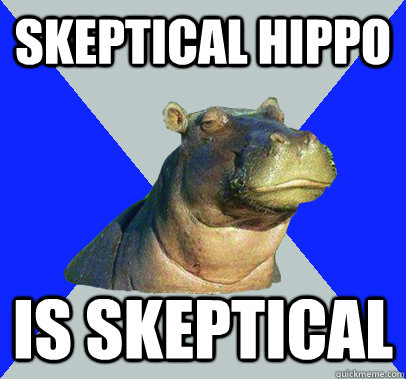 Skeptical hippo is skeptical - Skeptical hippo is skeptical  Skeptical Hippo