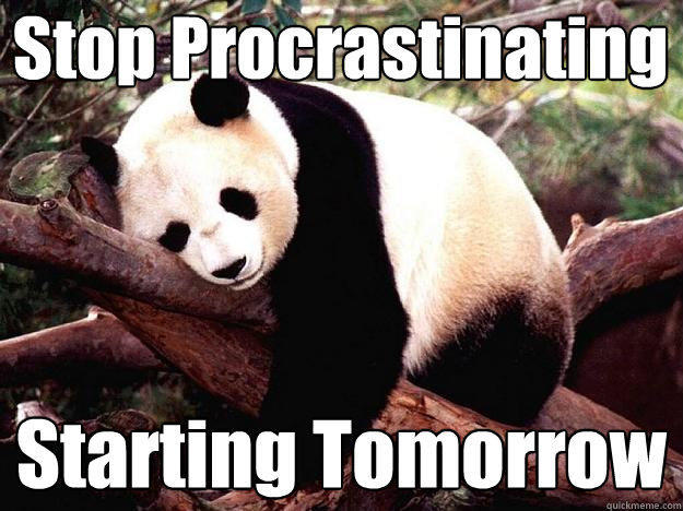 Stop Procrastinating Starting Tomorrow - Stop Procrastinating Starting Tomorrow  Procrastination Panda