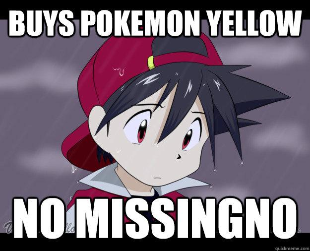 Buys Pokemon Yellow No Missingno