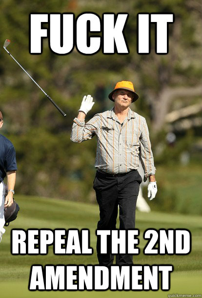 fuck it repeal the 2nd amendment - fuck it repeal the 2nd amendment  fuck it bill murray