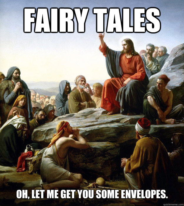 fairy tales oh, let me get you some envelopes.