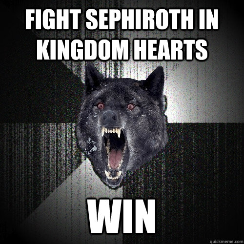 Fight Sephiroth in Kingdom Hearts WIN - Fight Sephiroth in Kingdom Hearts WIN  Insanity Wolf