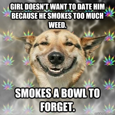 dating someone who smokes too much weed