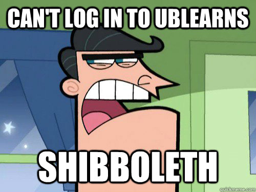 can't log in to UBlearns shibboleth