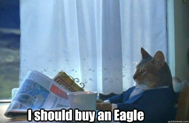 I should buy an Eagle - I should buy an Eagle  Sophisticated Cat is broke