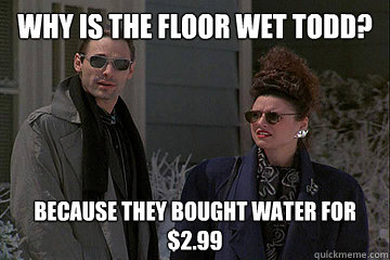 Why is the floor wet Todd? Because they bought water for $2.99  Christmas Vacation