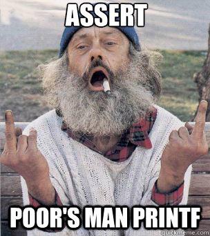 assert poor's man printf