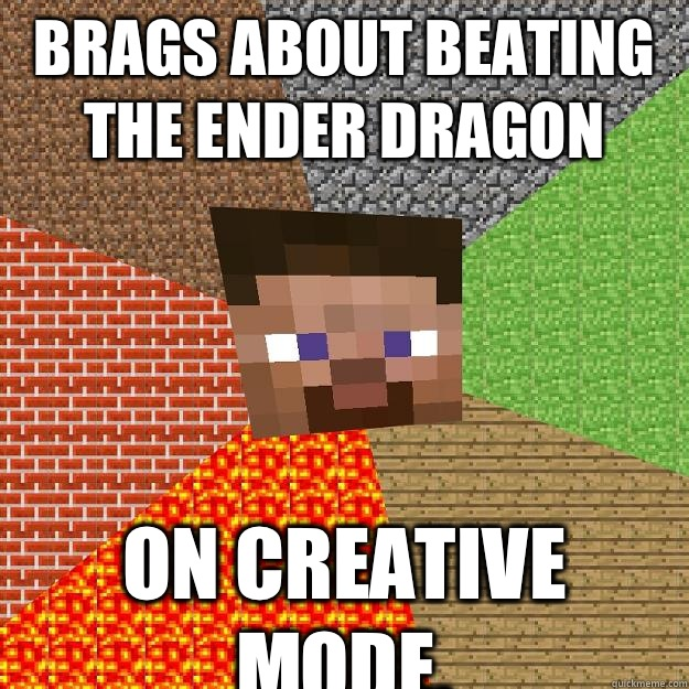 minecraft ender dragon creative mode
