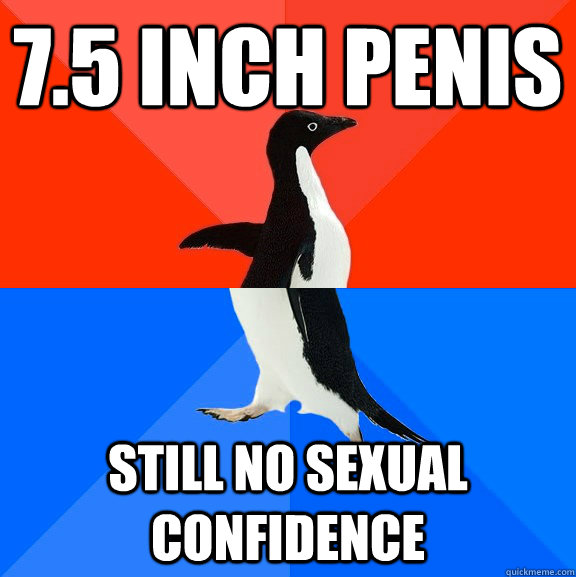 7.5 inch penis still no sexual confidence - 7.5 inch penis still no sexual confidence  Socially Awesome Awkward Penguin