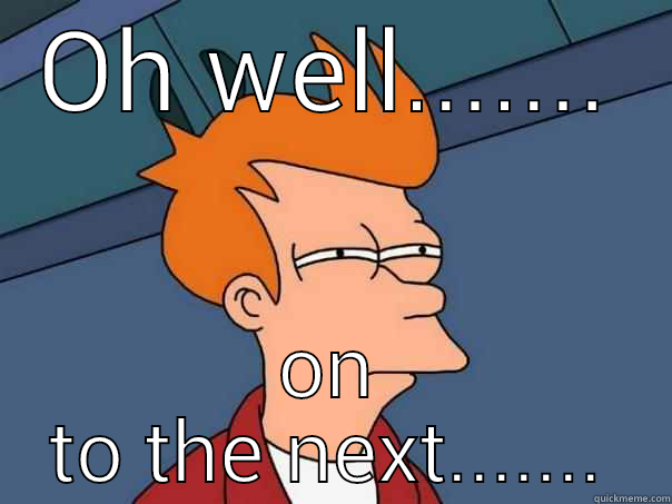 Giants v Indy - OH WELL....... ON TO THE NEXT....... Futurama Fry