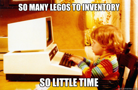 So Many legos to inventory so little time - So Many legos to inventory so little time  Little Number Cruncher