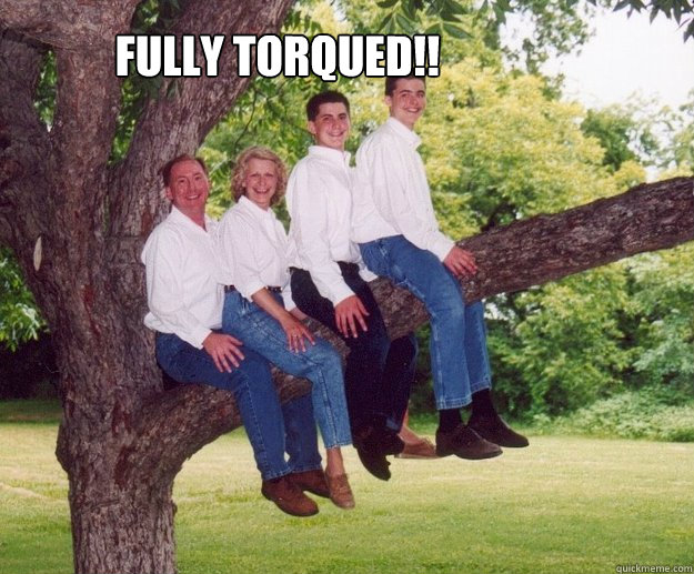 FULLY TORQUED!!  awkward family