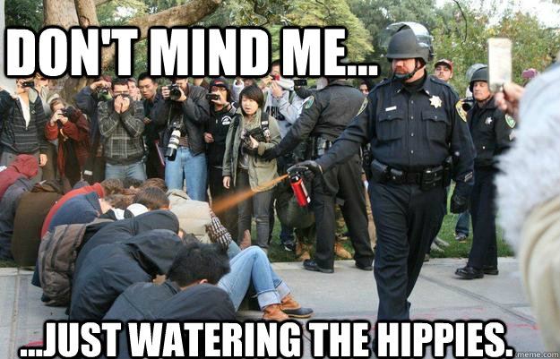 Don't mind me... ...Just watering the hippies.