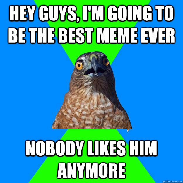 HEY GUYS, I'M GOING TO BE THE BEST MEME EVER nobody likes him ANYMORE - HEY GUYS, I'M GOING TO BE THE BEST MEME EVER nobody likes him ANYMORE  Hawkward
