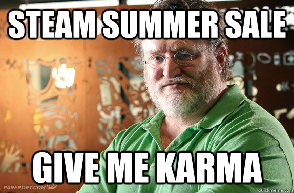 Steam Summer Sale Give me karma