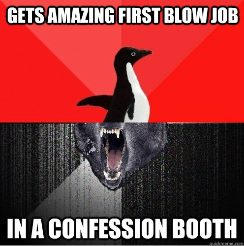 gets amazing first blow job in a confession booth