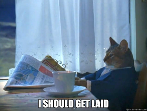 I should get laid -  I should get laid  The One Percent Cat