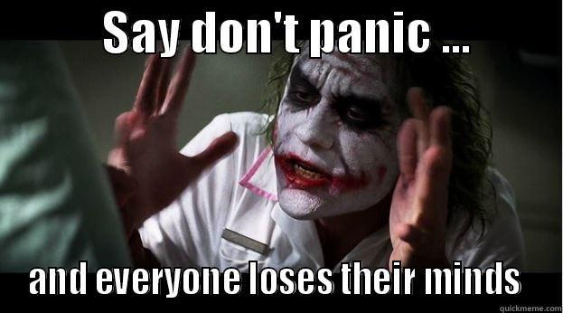 Image result for don't panic meme