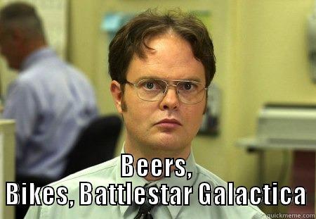 BEERS, BIKES, BATTLESTAR GALACTICA Dwight