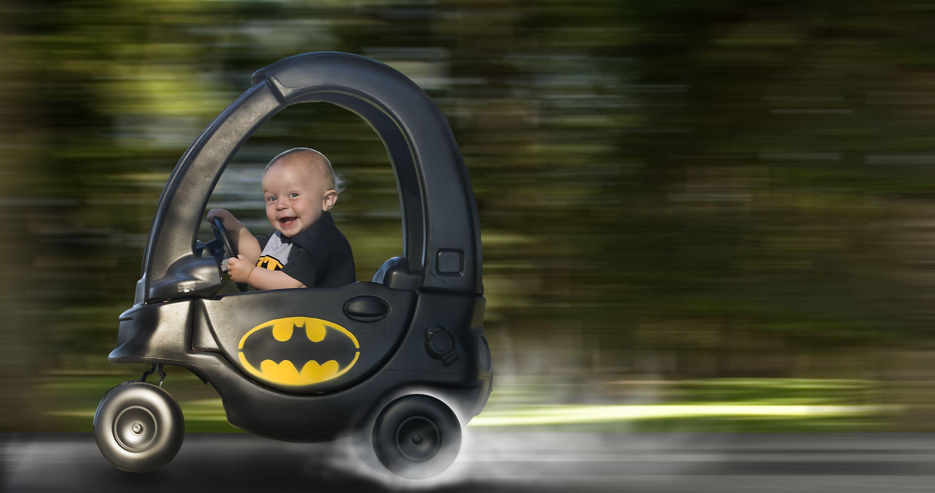 A friend wanted a simple Batman themed photo shoot for his 1 year old, I decided to kick it up a notch. -   Misc