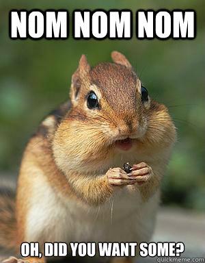 nom nom nom oh, did you want some? - nom nom nom oh, did you want some?  sneaky chipmunk