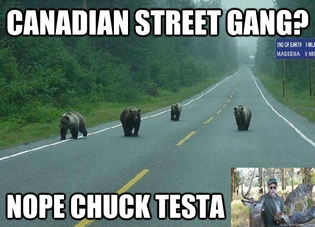 Canadian Street Gang? Nope Chuck Testa  NOPE