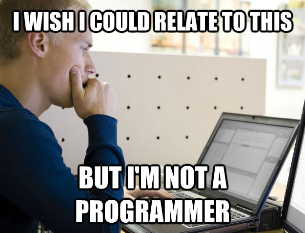 I WISH I COULD RELATE TO THIS BUT I'M NOT A PROGRAMMER - I WISH I COULD RELATE TO THIS BUT I'M NOT A PROGRAMMER  Programmer