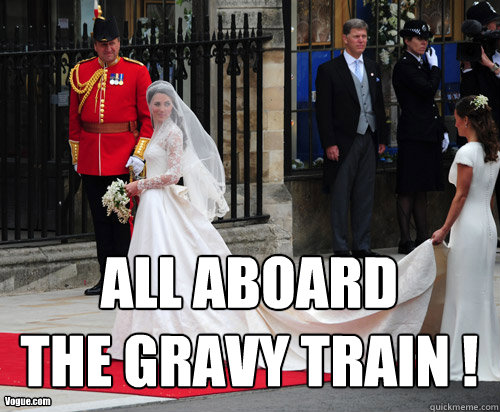 Vogue.com ALL ABOARD THE GRAVY TRAIN !