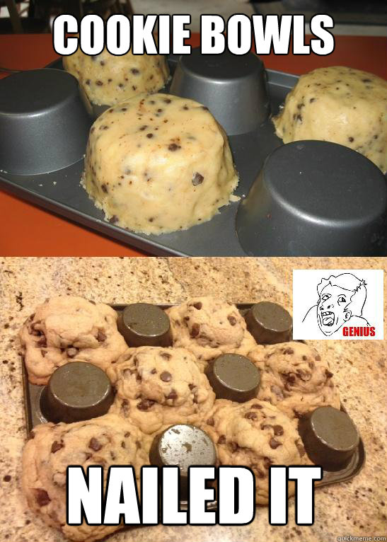 Funny Boy And Girl Baby Cookie Bowls NAILED IT...