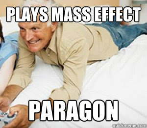 Plays Mass Effect Paragon