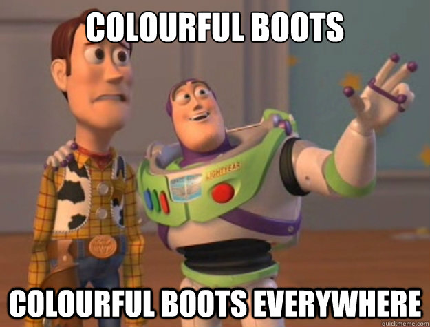 Colourful boots Colourful boots everywhere - Colourful boots Colourful boots everywhere  Buzz Lightyear
