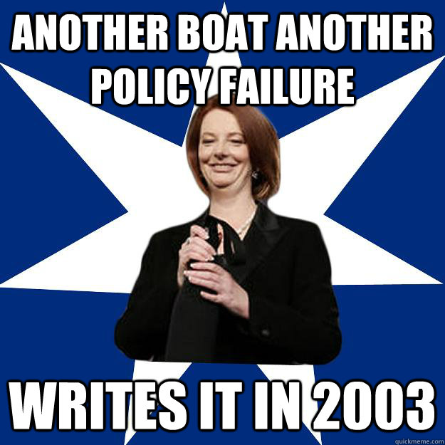 another boat another policy failure Writes it in 2003