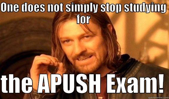 ONE DOES NOT SIMPLY STOP STUDYING FOR  THE APUSH EXAM! One Does Not Simply